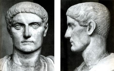 Busto del emperador Constantino. (tomado de: http://cvc.cervantes.es/img/citas_claroscuro/escultura_romana20.jpg)