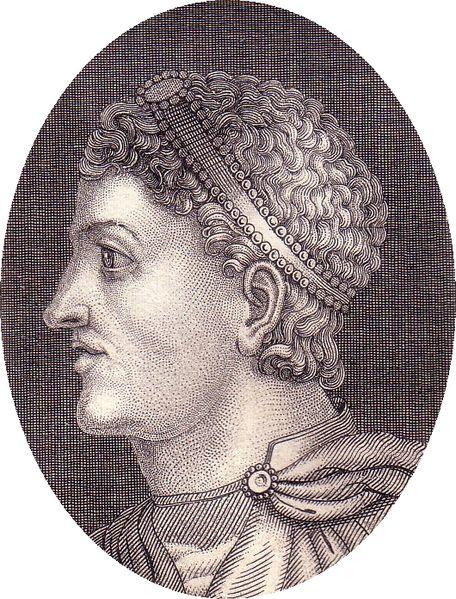 """Emperador Teodosio I """"El Grande"""" según un grabado de 1836 (En: http://commons.wikimedia.org/wiki/File:Theodosius.jpg)"""