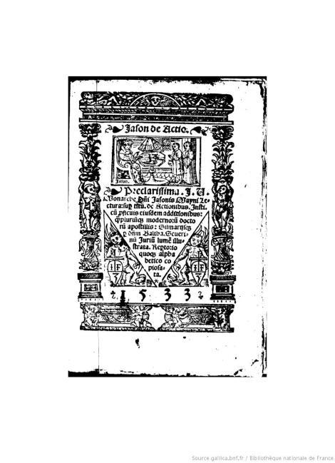 Portada de una edición de 1533 de esta obra. (Tomada de: http://gallica.bnf.fr/ark:/12148/bpt6k54634x)