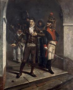 Caldas marcha al suplicio, por Alberto Urdaneta, ca 1880.