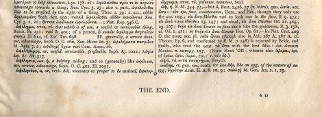 "Luego de 1865 páginas, sorprende encontrarse con ""the end"", a manera de colofón."