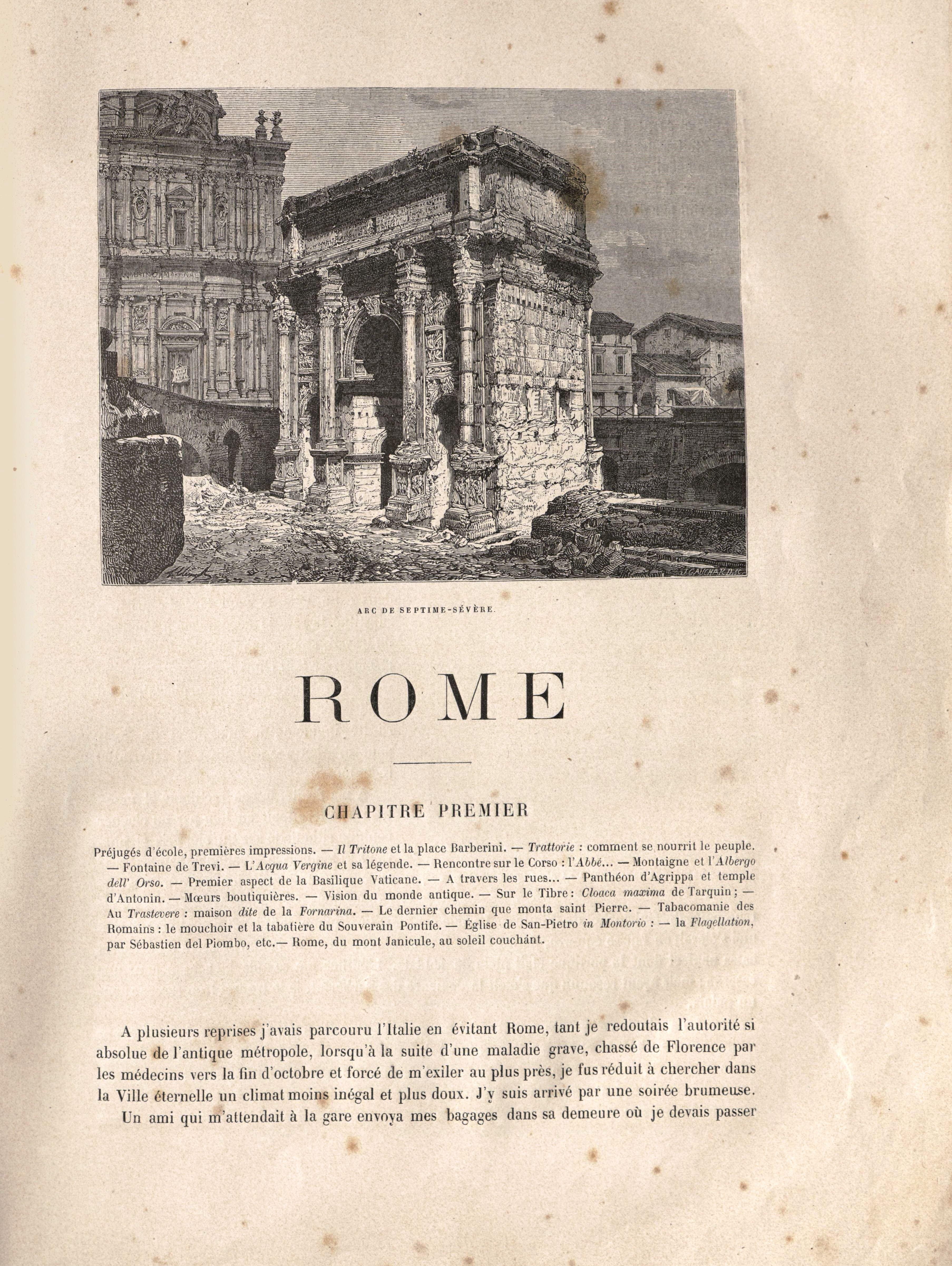 Capítulo primero, adornado con el arco de Septimio Severo.