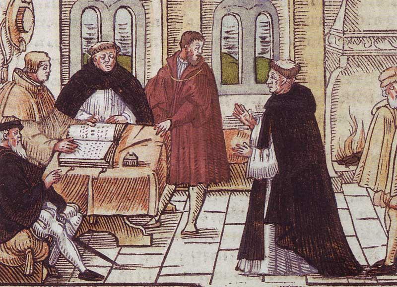 Encuentro de Lutero y Tomás de Vío.