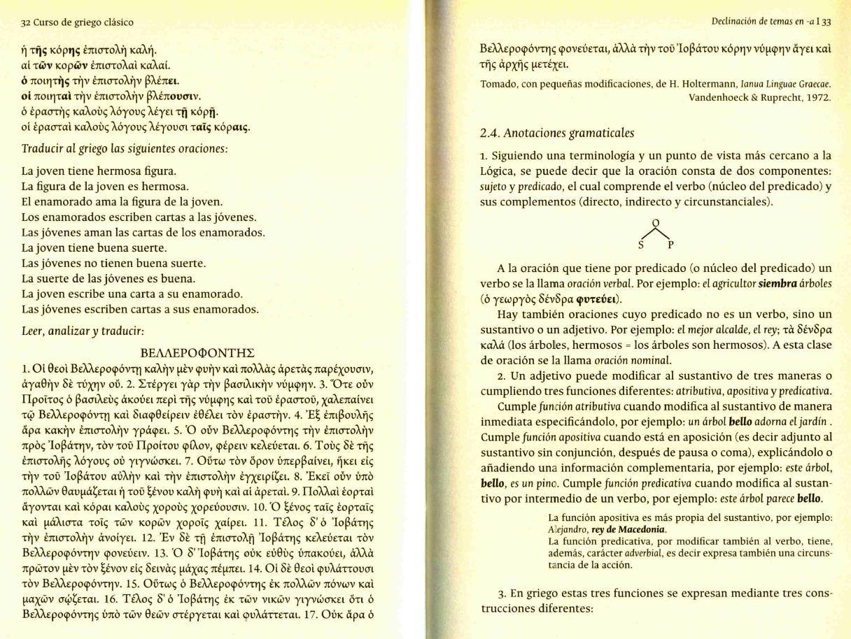 hay sencillas traduccin del griego e inversa las lecturas estn adaptadas de holtermann