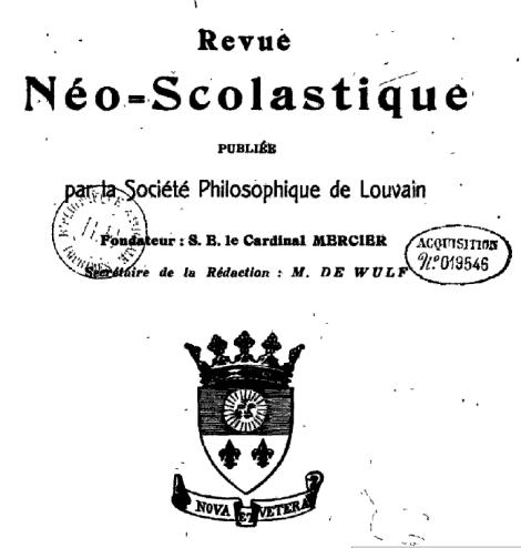 Nótese el lema de la revista, fundada en 1894.