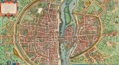 Lutetia vulgari Nomine Paris, Urbs Galliae Maxima, Sequana Navigabili Flumine Irrigatur ... - Braun & Hogenberg, 1599. Disponible en la red.