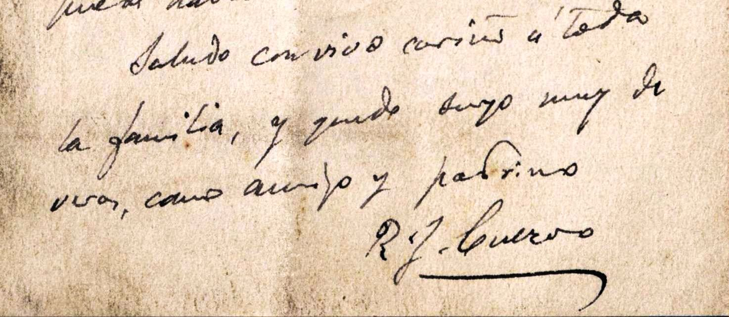 Remitida a su ahijado Agustín Lleras, escondida en ()