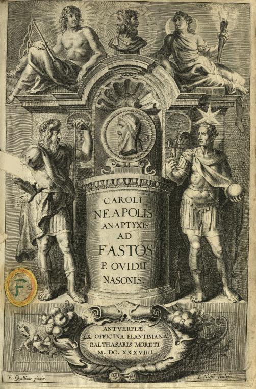 Detalle del grabado de Caroli Neapolis anaptyxis ad Fastos P.Ovidii Nasonis (E13N062)
