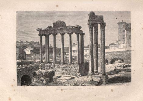 El foro romano, cerca del cual quedaba el comicio.