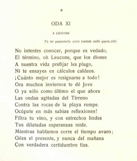 Odas de Horacio.