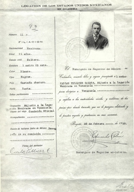 Pasaporte de Pellicer.