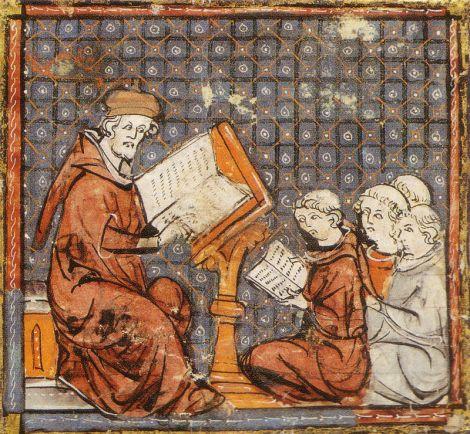Lección parisina (s. XIV; fuente: Wikipedia).