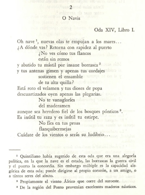 Antología de poesía latina. Traducción y notas de Óscar Gerardo Ramos. Bogotá: Instituto Caro y Cuervo, 1981.